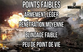 Points faible char léger
