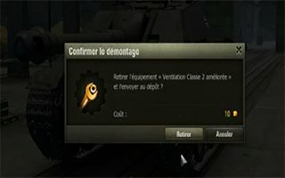 Equipement démontable world of tank
